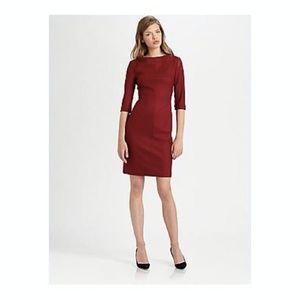 Diane Von Furstenberg Burgendy Thandi Wool Dress